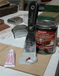 Deck building 05 -Preparing to mix auto boady filler -small.JPG