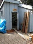 Deck building 11-Taken from the back door -Work is just underway -small.JPG