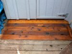 Deck building 12 -A small section in front of the door to the shop has finished -small.JPG