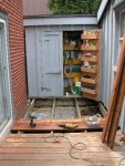 Deck building 14 -Laying the restored boards -picture taken from the east -small.JPG