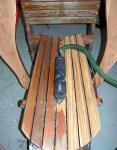 Deck building 18 -Deltex sander is perfect for sanding the narrow boards on the chairs -small.JPG
