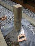 Deck building 35 -Low tech saw -small.JPG