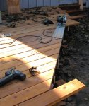 Deck building 41 -Trimming the edges -small.JPG
