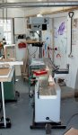 Woodworking bench 01 -Shed 2 arranged to use the jointer -small.JPG