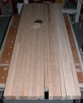 Woodworking bench 05 -bench top boards cut to length and dry assembled -small.jpg